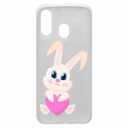 Чехол для Samsung A40 Little rabbit with a heart