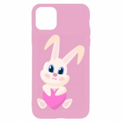 Чехол для iPhone 11 Little rabbit with a heart