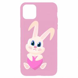 Чехол для iPhone 11 Pro Little rabbit with a heart