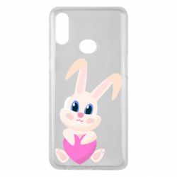Чехол для Samsung A10s Little rabbit with a heart