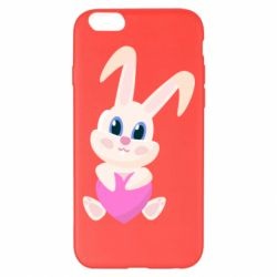 Чехол для iPhone 6 Plus/6S Plus Little rabbit with a heart