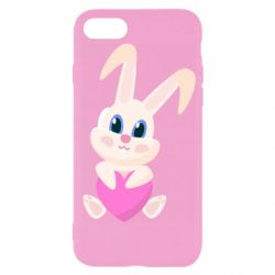 Чехол для iPhone 7 Little rabbit with a heart