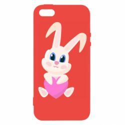 Чехол для iPhone5/5S/SE Little rabbit with a heart