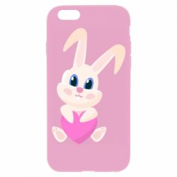 Чехол для iPhone 6/6S Little rabbit with a heart