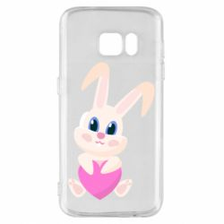 Чехол для Samsung S7 Little rabbit with a heart