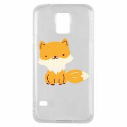 Чехол для Samsung S5 Little red fox