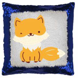 Подушка-хамелеон Little red fox