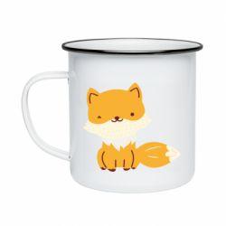 Кружка эмалированная Little red fox