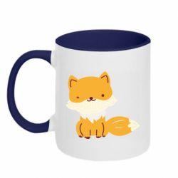 Кружка двухцветная 320ml Little red fox