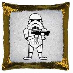 Подушка-хамелеон Little Stormtrooper