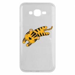 Чехол для Samsung J7 2015 Little striped tiger