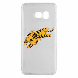 Чехол для Samsung S6 EDGE Little striped tiger