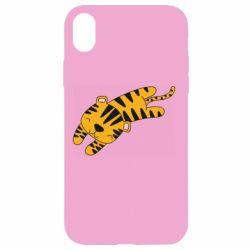 Чехол для iPhone XR Little striped tiger