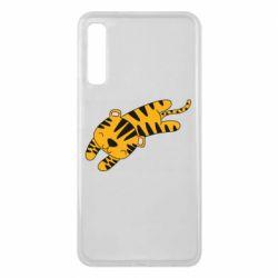 Чехол для Samsung A7 2018 Little striped tiger