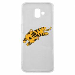 Чехол для Samsung J6 Plus 2018 Little striped tiger