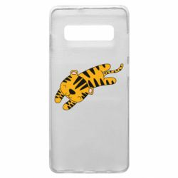 Чехол для Samsung S10+ Little striped tiger