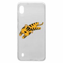 Чехол для Samsung A10 Little striped tiger