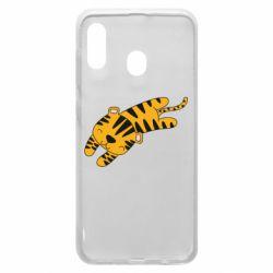 Чехол для Samsung A20 Little striped tiger