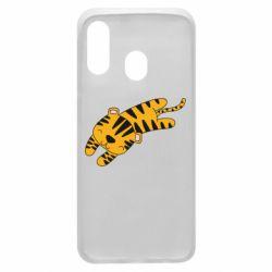 Чехол для Samsung A40 Little striped tiger