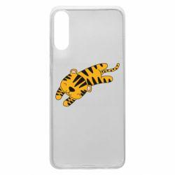 Чехол для Samsung A70 Little striped tiger
