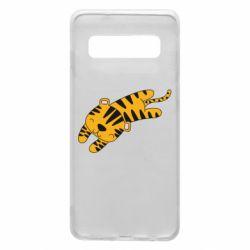 Чехол для Samsung S10 Little striped tiger