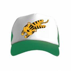 Детская кепка-тракер Little striped tiger