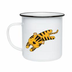Кружка эмалированная Little striped tiger