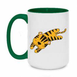 Кружка двухцветная 420ml Little striped tiger