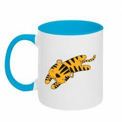 Кружка двухцветная 320ml Little striped tiger
