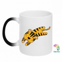 Кружка-хамелеон Little striped tiger