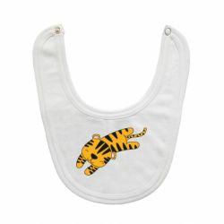 Слюнявчик  Little striped tiger