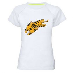 Женская спортивная футболка Little striped tiger