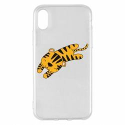 Чохол для iPhone X/Xs Little striped tiger