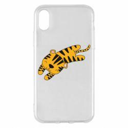 Чехол для iPhone X/Xs Little striped tiger
