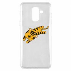 Чехол для Samsung A6+ 2018 Little striped tiger