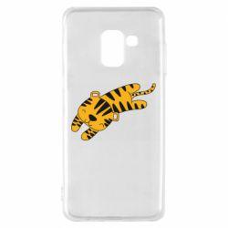 Чехол для Samsung A8 2018 Little striped tiger