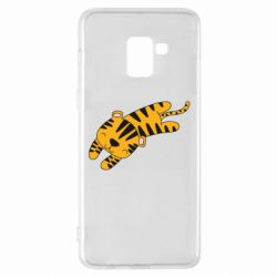 Чехол для Samsung A8+ 2018 Little striped tiger