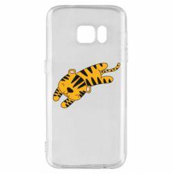 Чехол для Samsung S7 Little striped tiger