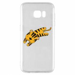 Чехол для Samsung S7 EDGE Little striped tiger