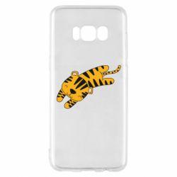 Чехол для Samsung S8 Little striped tiger