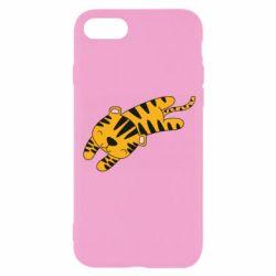 Чехол для iPhone 8 Little striped tiger