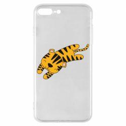 Чехол для iPhone 8 Plus Little striped tiger