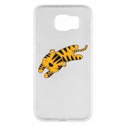 Чехол для Samsung S6 Little striped tiger