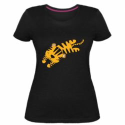 Женская стрейчевая футболка Little striped tiger