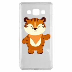 Чехол для Samsung A5 2015 Little tiger with a smile