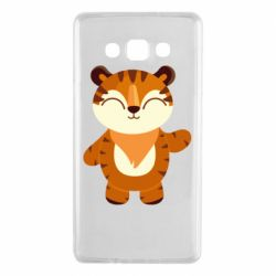 Чехол для Samsung A7 2015 Little tiger with a smile