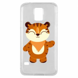 Чехол для Samsung S5 Little tiger with a smile