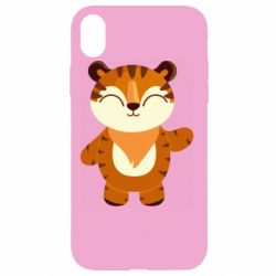 Чехол для iPhone XR Little tiger with a smile