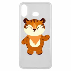Чехол для Samsung A6s Little tiger with a smile