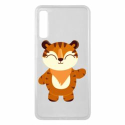 Чехол для Samsung A7 2018 Little tiger with a smile